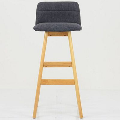 Helsinki Charcoal Grey Fabric Bar Stool