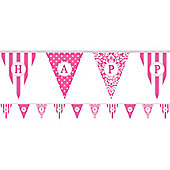 Banners Personalise It Paper Pennant Banner - Hot Pink