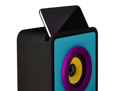 Tinc Big Boom Portable Wireless Magnetic Induction Stand n' Speaker for Smartphones - Blue/Purple