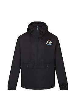 Newcastle United FC Boys Half Zip Shower Jacket 6-7 Years - Black