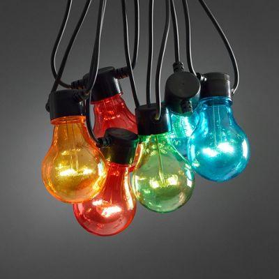 10 Multi Coloured LED Circus Festoon Lights