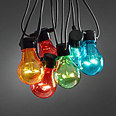 10 Multi Coloured LED Circus Festoon Lights