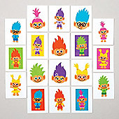 Hairy Heads Temporary Tattoos for Children - Great Toy Party Bag Filler Loot Gifts for Kids (Pack of 24)