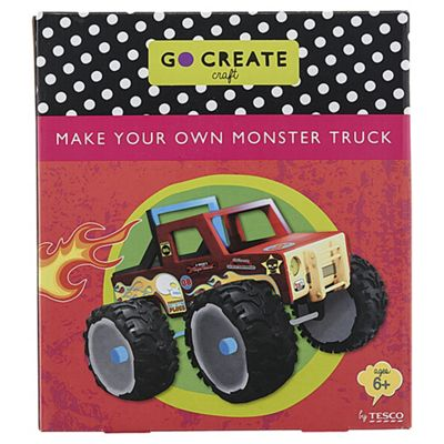 Buy Go Create Monster Truck From Our Wood Craft Range Tesco