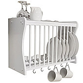 Cheshunt - Wall Mounted Kitchen Plate Cup / Storage Rack - White