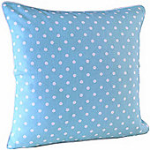 Homescapes Cotton Blue Polka Dots Scatter Cushion, 45 x 45 cm