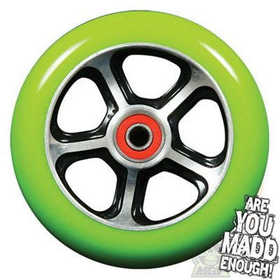 Madd Gear DDAM CFA 110mm Scooter Wheel Including Bearings - Black/Green