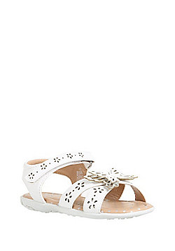 F&F Butterfly Laser-Cut Strappy Sandals - White