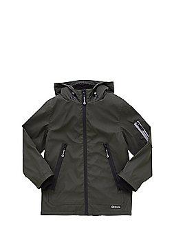 F&F Rubberised Fleece Lined Shower Resistant Mac - Khaki
