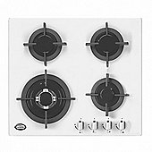 Bautechnic AGCG6042WH White Gas-on-Glass Hob | 60cm