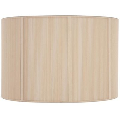 35cm Champagne Silky String Drum Shimmer Lamp Shade Modern Style