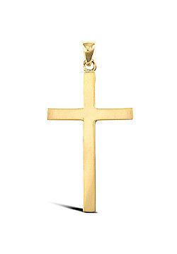 Jewelco London 9ct Solid Gold medium weight Cross Pendant