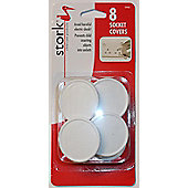 Stork Childcare Products Socket Covers Uk - 8Pk