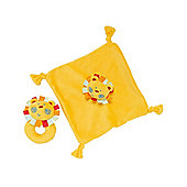 Mothercare Gifts Roll Up Roll Up Lion Comforter and Rattle Gift Set