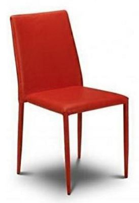 Julian Bowen Set of 4 Red Jazz Stacking Chairs