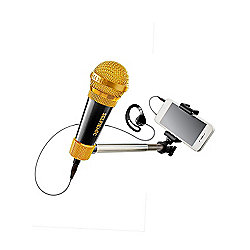 SelfieMic Selfie Stick and Microphone - Black