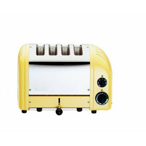 Dualit 47188 4 Slot Toaster 47188 Canary Yellow Finish