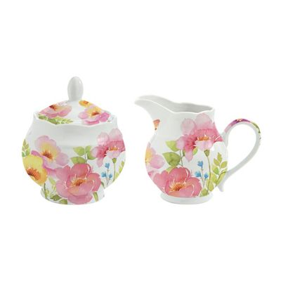 Stow Green Watercolour Creamer and Sugar Bowl Set