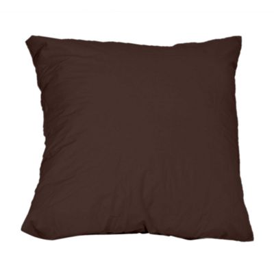 Homescapes Chocolate Brown Continental Square Pillowcase 100% Egyptian Cotton Pillow Cover 200 TC, 40 x 40 cm