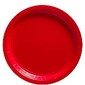Red Plates - 23cm Paper Party Plates - 50 Pack