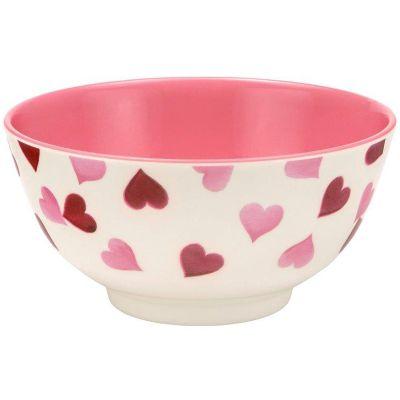 Emma Bridgewater Pink Hearts 2 Tone Melamine Bowl