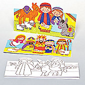 Children's Christmas Crafts Nativity Cards (8 Pcs)