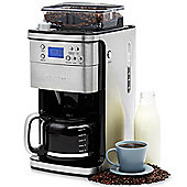 Andrew James Bean to Cup Coffee Maker with Grinder & 24 Hour Timer - Stainless Steel