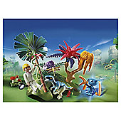 Playmobil 6687 Super 4 Lost Island with Alien Raptor