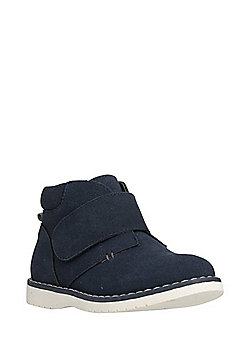 F&F Faux Suede Riptape Desert Boots - Navy