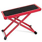 Tiger Adjustable Folding Guitar Footstool - Red