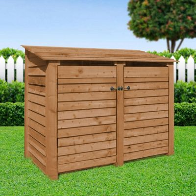 Cottesmore wooden log store with doors - 4ft