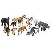 15pcs Realistic Safari Animal Figurine Toy Set by Animal Planet