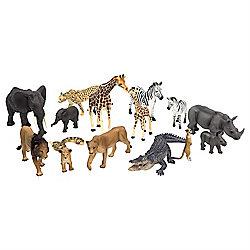 15pcs Realistic Safari Animal Figurine Toy Set by Animal Planet