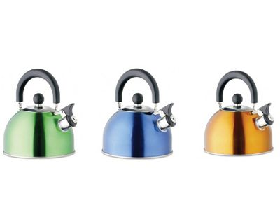 Gelert Cut174 Whistle Kettle Metallic Asst 2Ltr