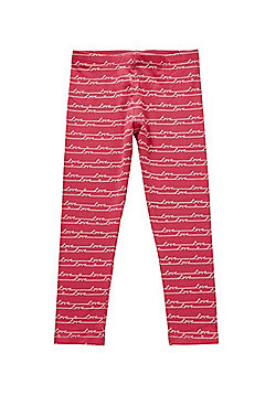 F&F Love Slogan Leggings with As New Technology - Pink