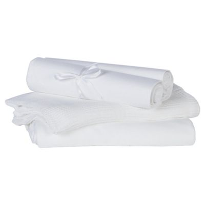 Tesco 4 Pack White Bedding Starter Set