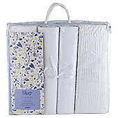Tesco 4 Pack Baby Bedding Bumper Set, White