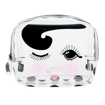 Miss Etoile Medium Clear Cosmetic Zip Travel Bag Winking Eye Design 15.5 x 12.5 x 8 cm