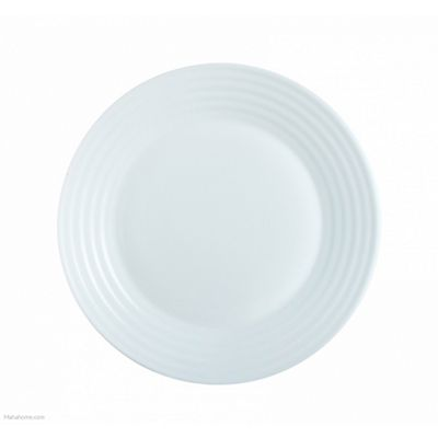 Luminarc's Extra Resistant Dinner Plate, Fully Tempered, 25 cm (White)