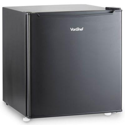 VonShef 47L Mini Fridge Refrigerator Cooler with Freezer Compartment Black