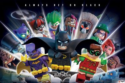 Lego Batman Always Bet On Black Poster 61x91.5cm