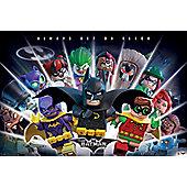 Lego Batman Always Bet On Black Poster 61x91.5cm