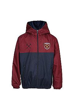 West Ham United FC Boys Shower Jacket - Navy