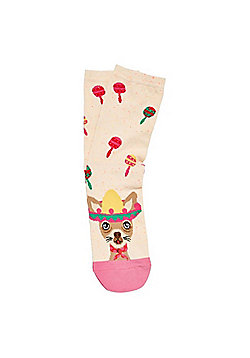 F&F Mexican Dog Ankle Socks - Multi