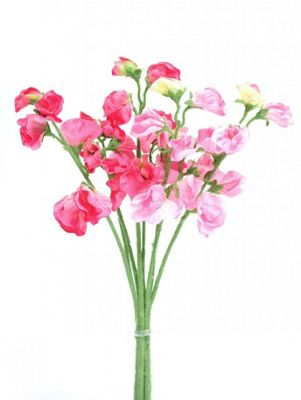 Artificial - Sweetpea Bunch - Pink