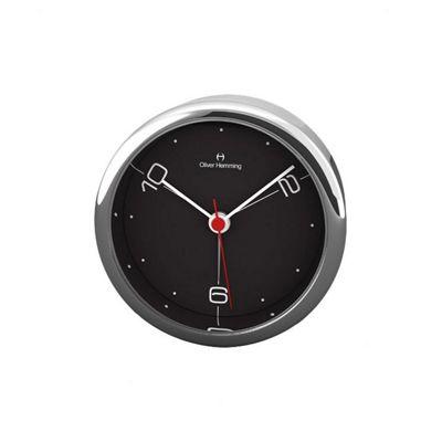 Oliver Hemming Alloy Desire Alarm Clock - Black - 5.8cm