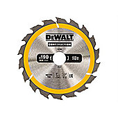 Dewalt DT1943 Circular Saw Blade 190 x 30mm 18T