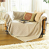 Country Club Como Throw 127 x 152cm, Natural