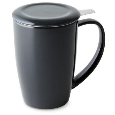 ForLife Curve Tall Tea Mug in Graphite Black 440ml 386-BKG
