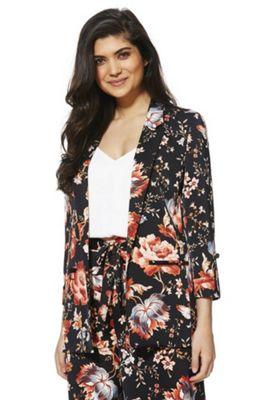 F&F Floral Print Tailored Jacket Multi 10